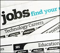 Image of the employment ads in a newspaper.