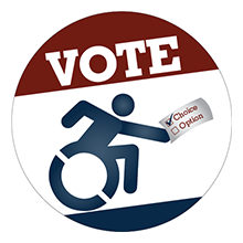 Image of our new voting button.