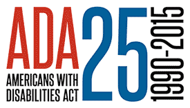 ADA 25th official logo