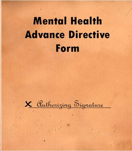 mental health advance directive